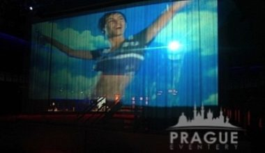 Prague Event Projection - Water Screen 2