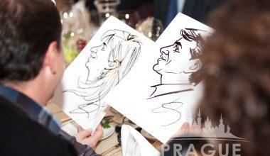 Prague Party Activities - Party Caricaturists 5