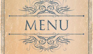 Prague Event Services - Menu Design 1