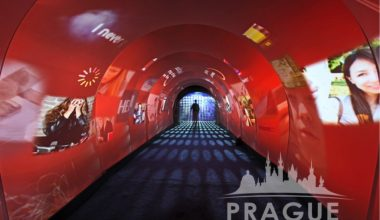Prague Event Audio Visual Services - Interactive Entrance 2