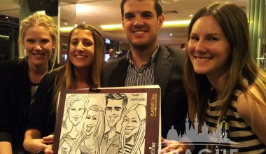 Prague Party Activities - Party Caricaturists 3