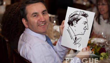 Prague Party Activities - Party Caricaturists 4