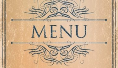 Prague Event Services - Menu Design 1