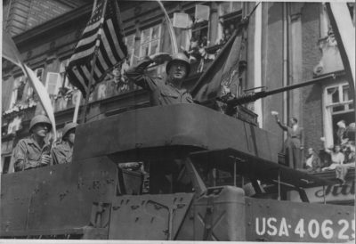 American army in Pilsen at the end of World War II