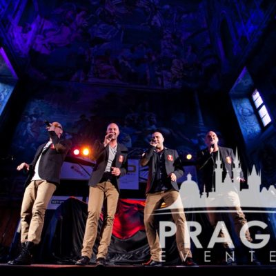 Four man singing
