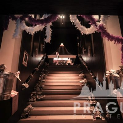 Staircase at Gangster themed party in Prague