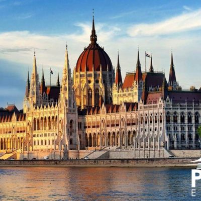 Hungarian Parliament Building in Budapest
