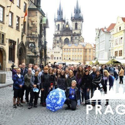Group of people in Old Town Square