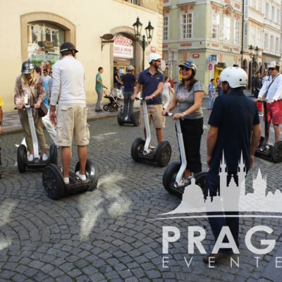 Bunch of people riding segway on the streets - University Of Plymouth