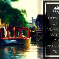 Prague river cruises on Vltava river